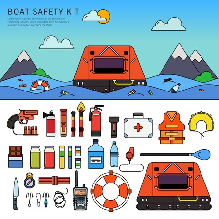 Equipment for safety in the sea