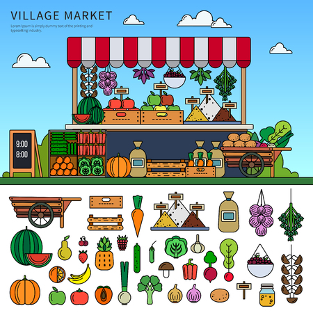 Food market in the village