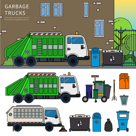 Garbage truck on the street