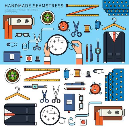 Handmade seamstress set Illustration
