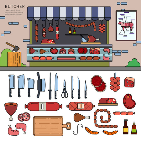 Butcher shop on the street