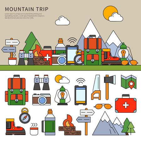 Set for mountain trip