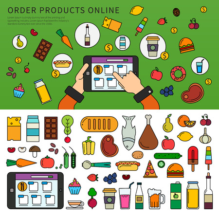 Ordering products online Illustration