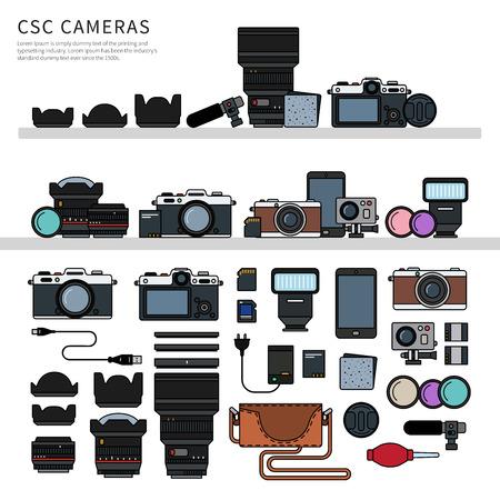 Photography equipment flat line
