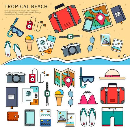 Tropical trip set.