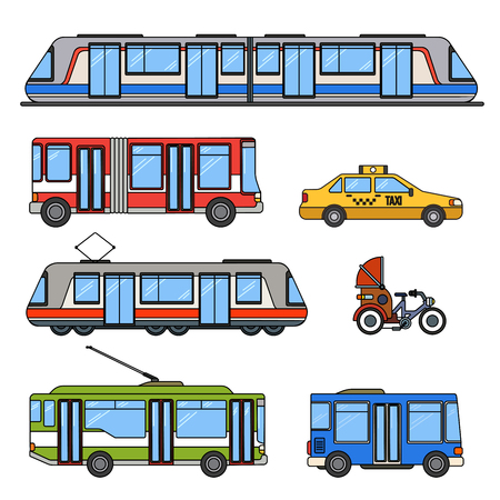 Types of city transport Illustration