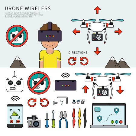 Wireless drone devices