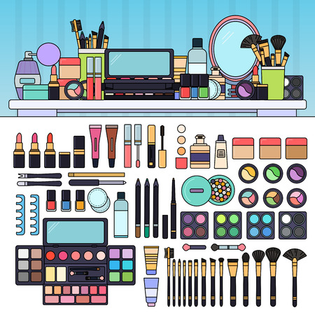 beauty store: Make up kit in the beauty store