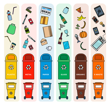 Sorting garbage bins