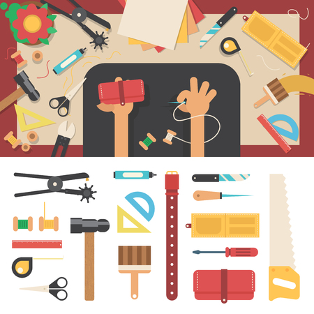 workmanship: Tools for handmade with leather