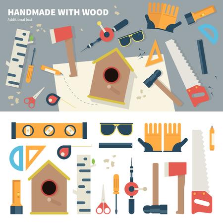 Tools for handmade things Illustration