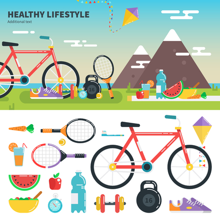 Recomendations for healthy lifestyle Illustration