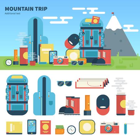 Equipment for mountain trip
