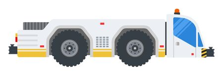 Airport tractor vector flat design object. Isolated illustration on white background. 向量圖像
