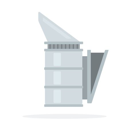 Smoker vector flat material design object. Isolated illustration on white background. Vectores