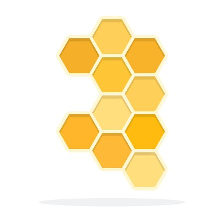 Honeycomb vector flat material design object. Isolated illustration on white background.