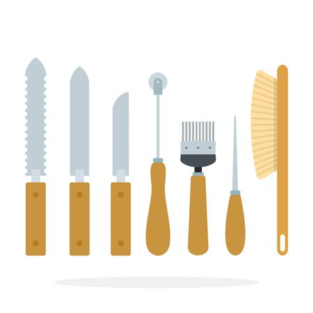 Tools of the beekeeper vector flat material design object. Isolated illustration on white background.