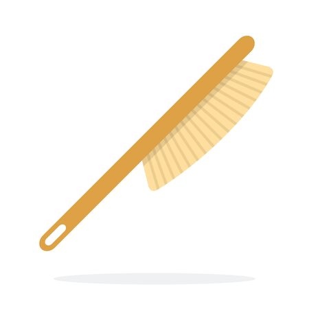 Beekeeping brush vector flat material design object. Isolated illustration on white background.