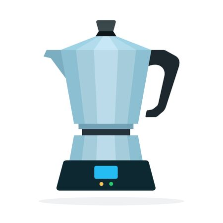 Geyser coffee vector flat material design isolated on white Иллюстрация