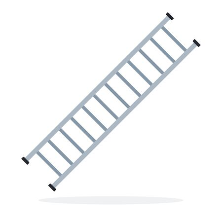 Fire ladder escape vector flat material design isolated on white