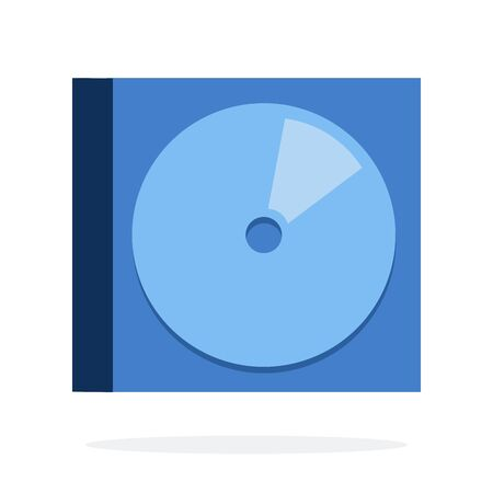 Compact disc in plastic box vector flat material design isolated on white Ilustração