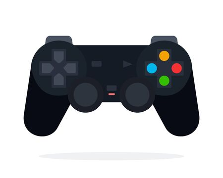 Joystick for video games flat isolated