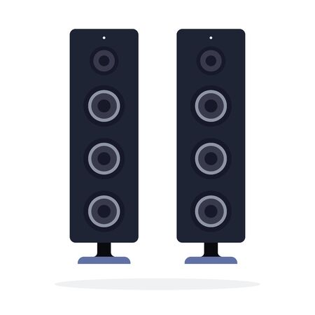 Home stereo system vector flat material design isolated on white Vector Illustratie