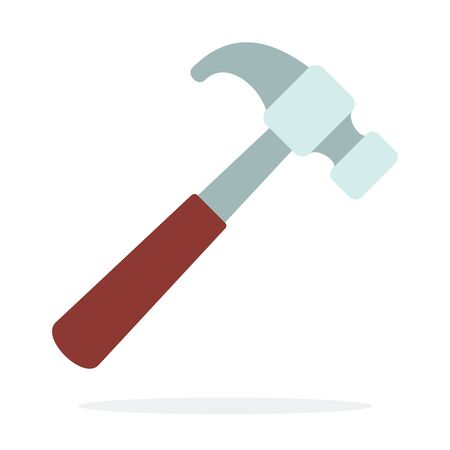 A shoe hammer vector flat material design isolated on white