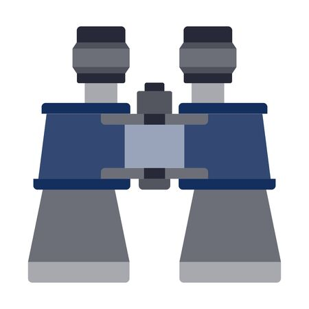Marine binoculars vector flat icon isolated on white
