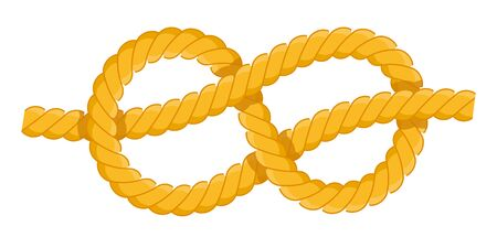Figure eight knot vector icon flat isolated