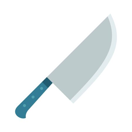 Butcher knife vector flat isolated on white Ilustrace