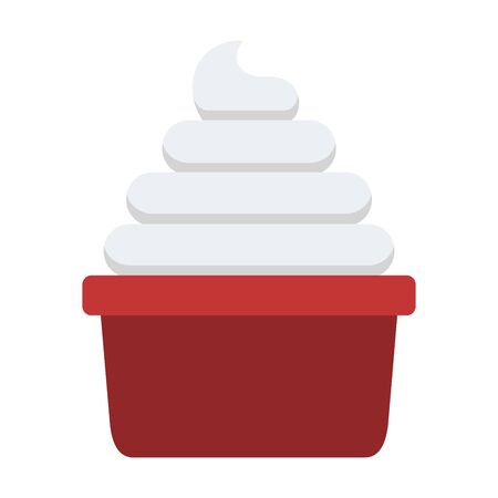 Portion of whipped cream vector flat isolated Illustration