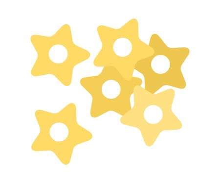 Pasta stars for soups flat single icon vector isolated on white  イラスト・ベクター素材