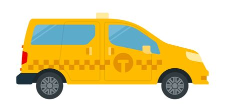 Passenger-and-freight taxi vector icon flat isolated Illustration