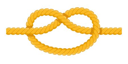 Clove hitch vector icon flat isolated