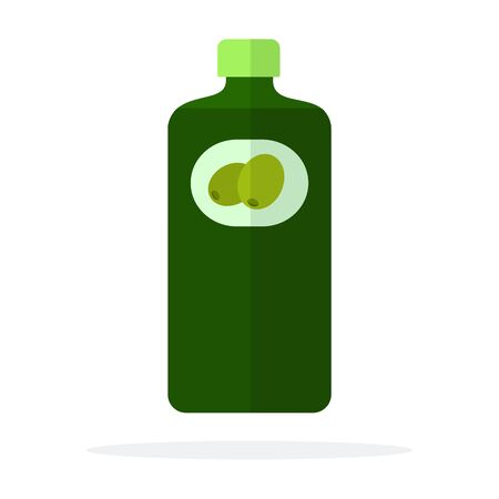 Bottle of olive oil vector flat isolated