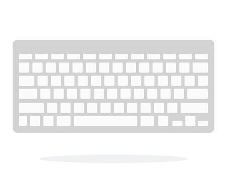 Wireless keyboard vector flat isolated Иллюстрация