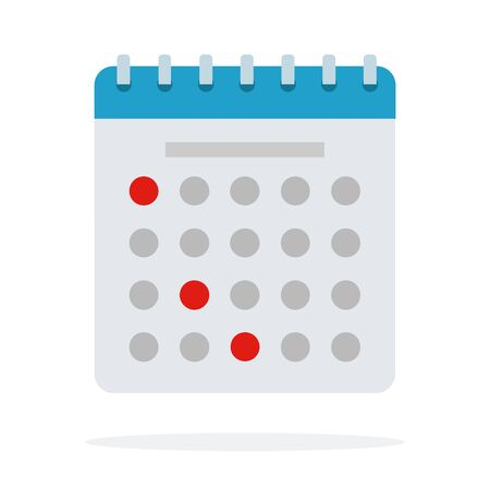 Paper calendar marked with dates