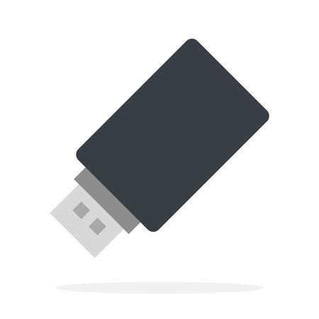 Flash drive vector flat isolated
