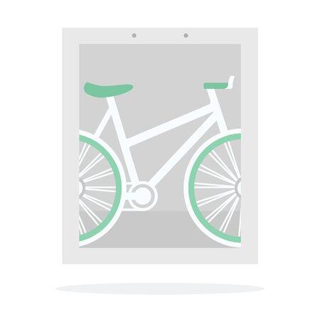 Bike banner vector flat isolated