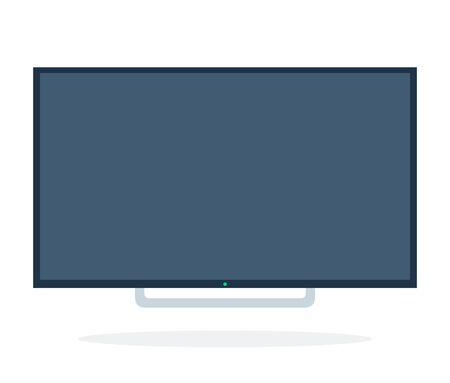 Telewizor LCD wektor płaski materiał na białym tle