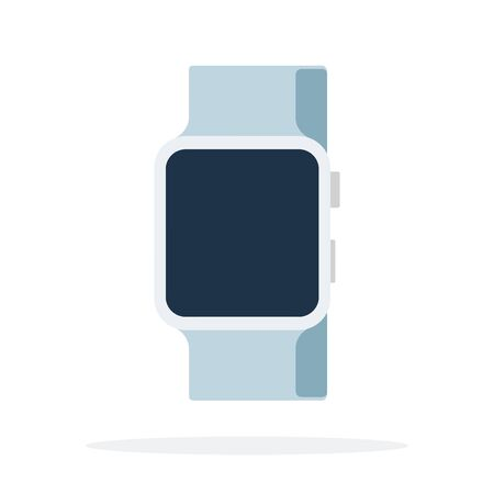 Smart watch with white strap