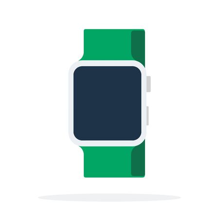 Smart watch with a green strap