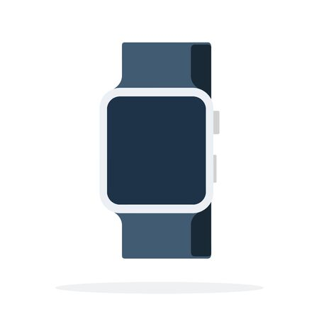 Smart watch with a black strap