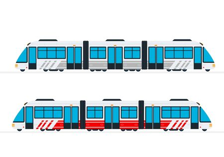 Intercity passenger train vector flat isolated