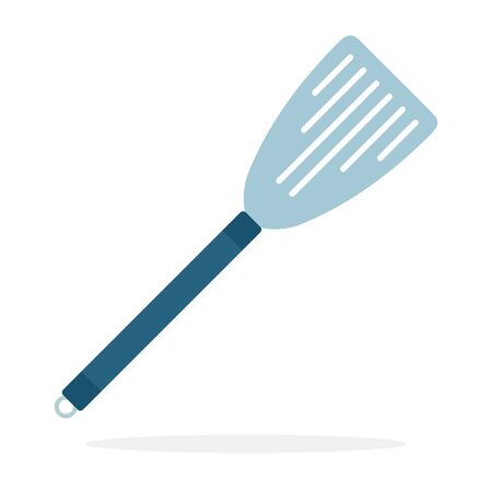 Spatula with slots vector flat material design isolated object on white background.