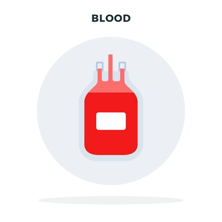 Blood for transfusion vector icon flat isolated Illustration