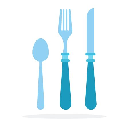Cutlery vector flat material design isolated object on white background. Фото со стока - 137227439