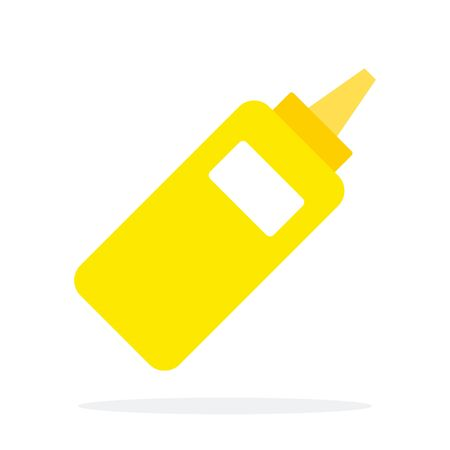 Plastic dispenser with mustard vector flat isolated