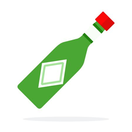 Pesto sauce in a glass bottle vector flat isolated Иллюстрация